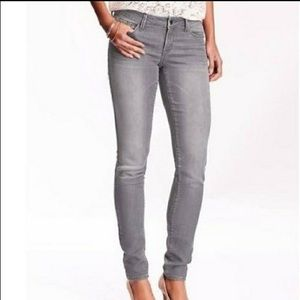 Old Navy curvy mid-rise gray skinny jeans 0